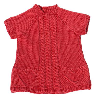 Baby strik kjole