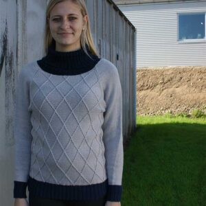 Harlekin sweater set forfra