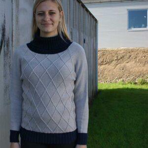 Harlekin sweater set forfra