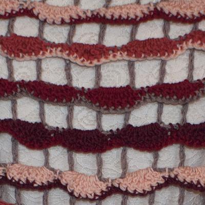 Detalje af hæklet sjal
