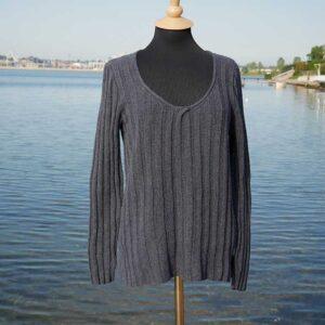 Martina strikket sweater fra Kirsten Nyboe