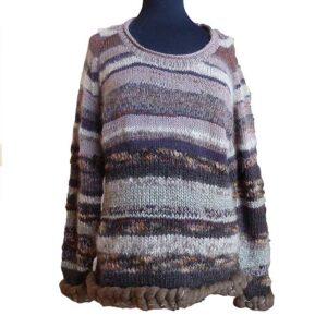 Sweater i restgarn fra Kirsten Nyboe