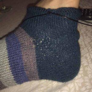 Strikket strømpe hæl