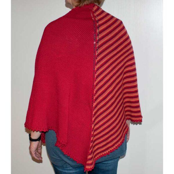 strikket sjal bagfra