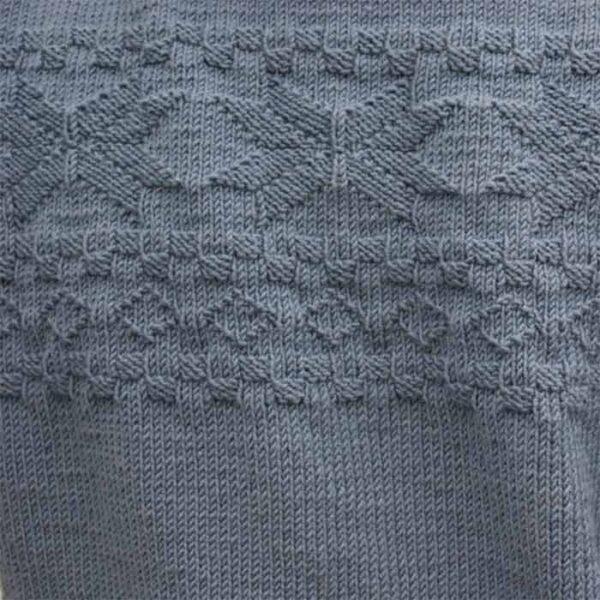 Relief mønsteret på herresweateren