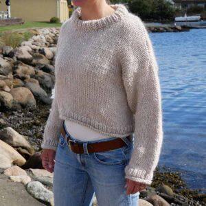 Strikket storsweater