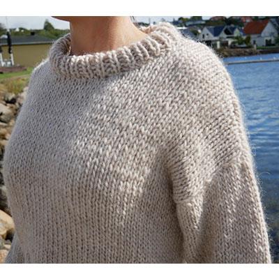 Nærbillede af storsweater