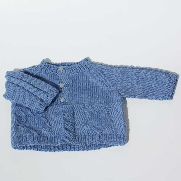 Cardigan til baby i blå