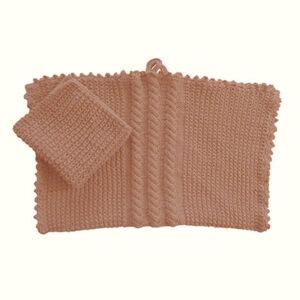Håndklæde og karklud med snoninger