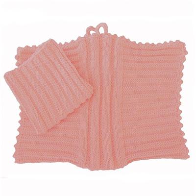 Håndklæde og karklud med bølger