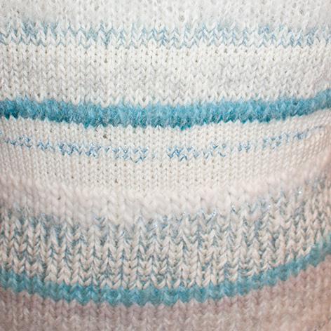 detalje af kjolen i restgarn