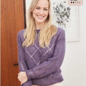 Hulmønster sweater harlekintern