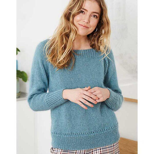 sweater med bådudskæring-