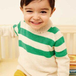 Drenge raglan sweater forfra Kirsten Nyboe Strikdesign