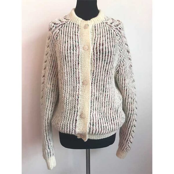 Shadow patent cardigan forfra