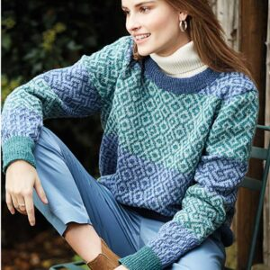 Sweater med mønster forfra