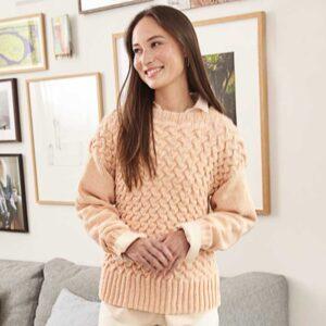 Sweater i volmen mønster Kirsten Nyboe Strikdesign