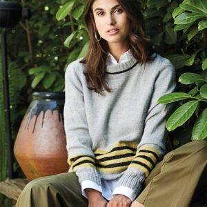 Sweater med lyrex forfra