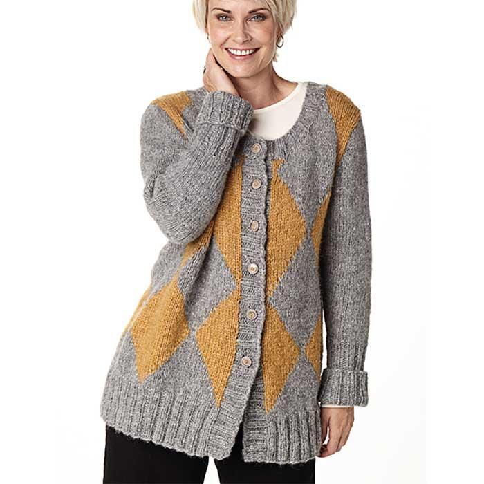 Sweater til mænd - Anton - Kirsten Nyboe Strikdesign