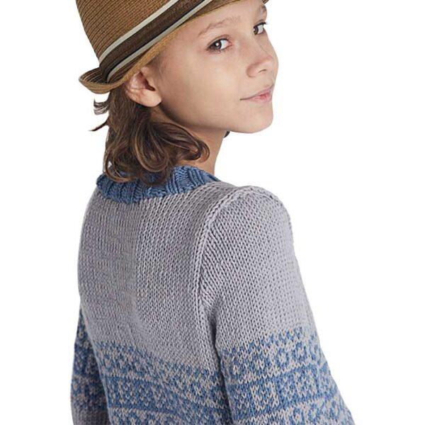 Drenge sweater med mønsterbort set bagfra