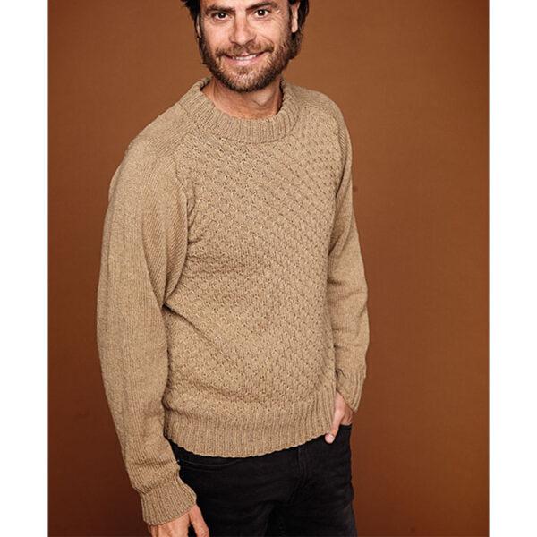 Herre sweater med sadelskulder