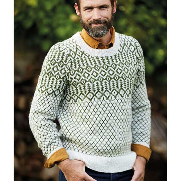 Herresweater med fair isle mønster