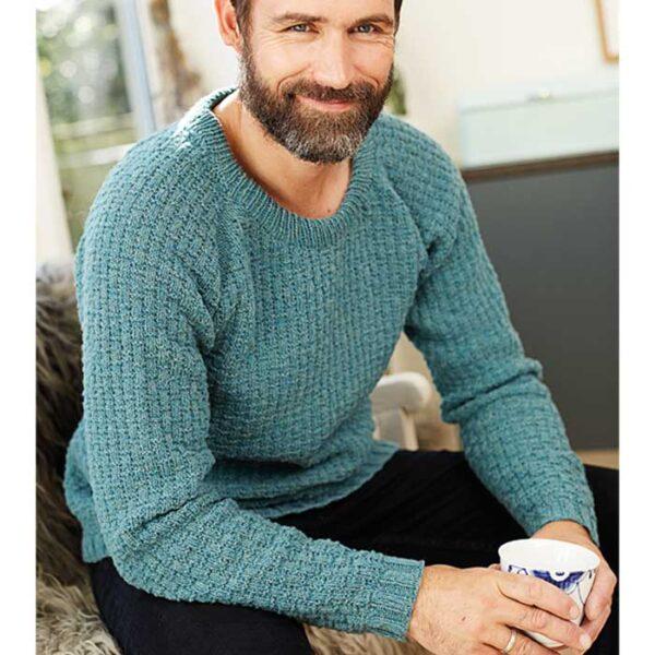 herre sweater siddende