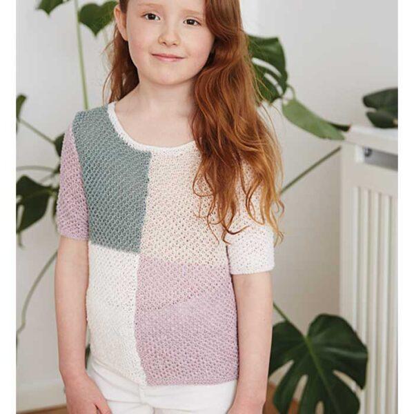 Pige T-shirt med hulmønster