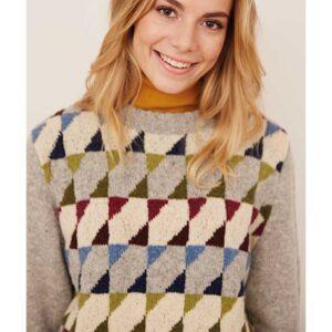 zoom på harlekin sweater