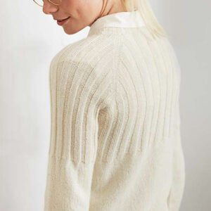 Rib sweater skråt bagfra