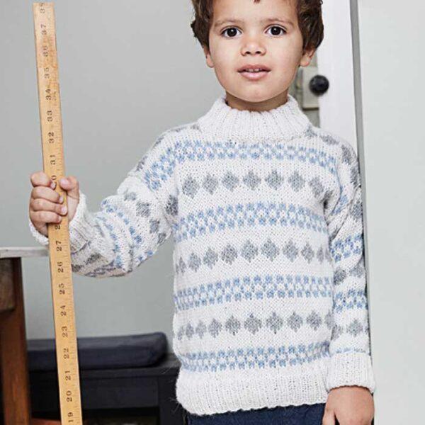 Drenge sweater med fair isle mønster
