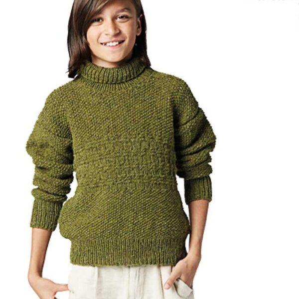 Drenge sweater med struktur