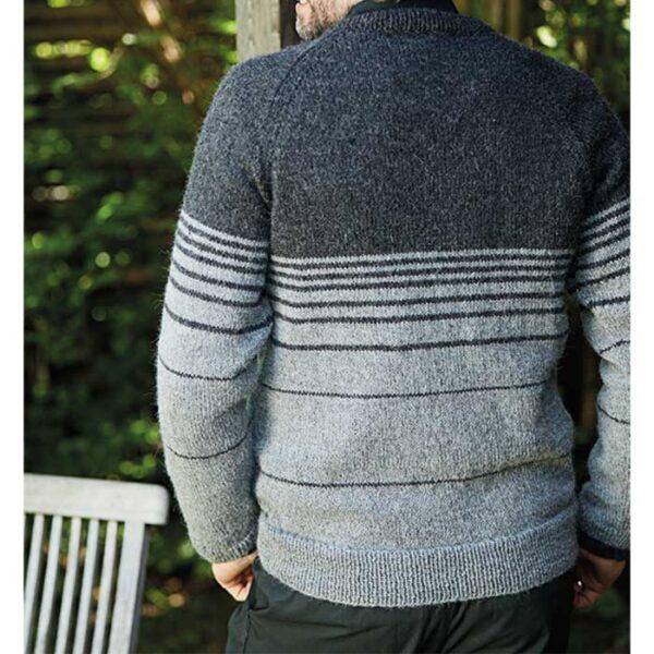 herresweater med raglan set bagfra