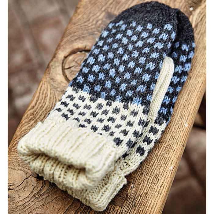 Strikkede halv handsker - Kirsten Nyboe Strikdesign