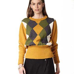 Harlekinsweater med lige ærmer
