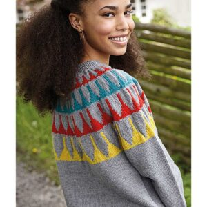 Top Down teen sweater set fra siden