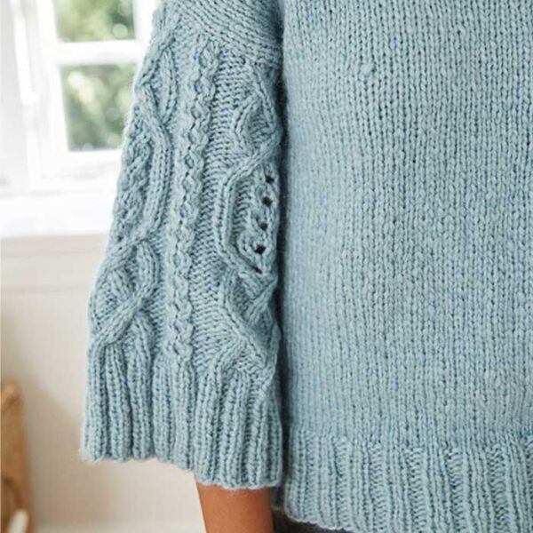 Teen arans sweater detalje af ærme
