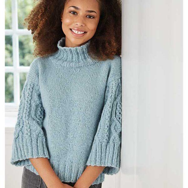 Teen aran sweater